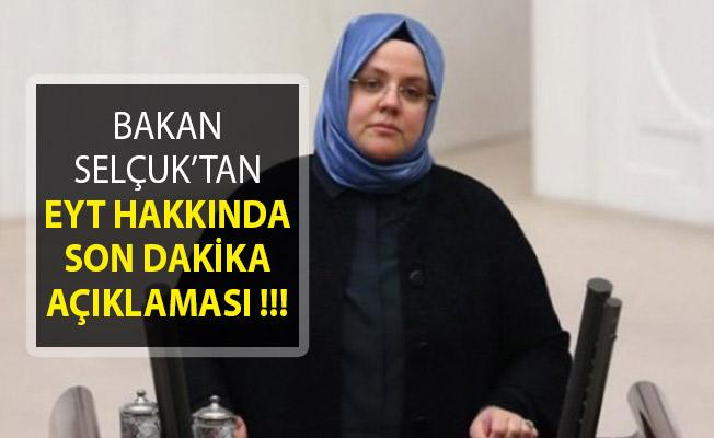 Bakanı Zehra Zümrüt Selçuk'tan Emeklilikte Yaşa Takılanlar (EYT) Hakkında Son Dakika Açıklaması Geldi!