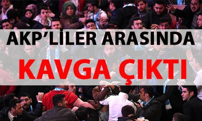 Cumhurbaşkanı Erdoğan'ın da katıldığı törende AKP'liler arasında kavga çıktı