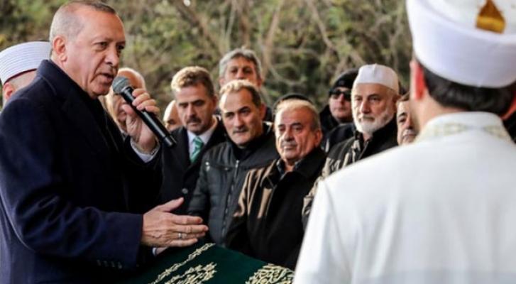 Cumhurbaşkanı Erdoğan Kadir Turgut'un cenaze törenine katıldı
