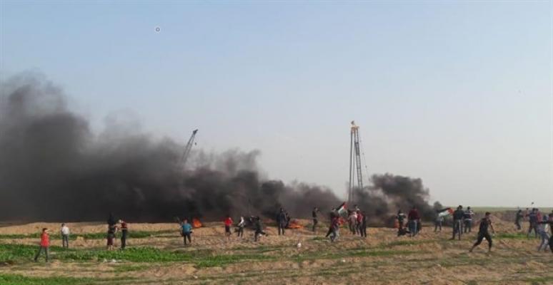 Gazze protestolarında 18 Filistinli yaralandı