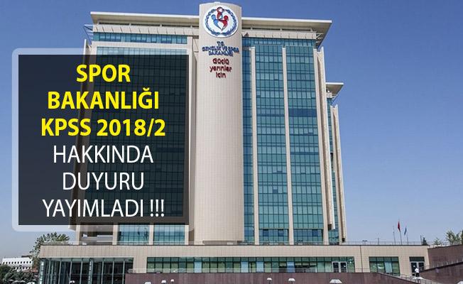 Gençlik ve Spor Bakanlığı KPSS 2018/2 İle Atananlardan Talep Edilen Belgeleri Açıkladı!