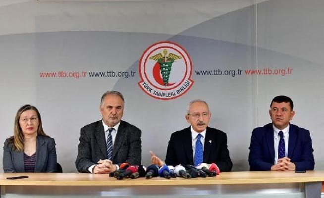 Haklarında dava açılan Türk Tabipleri Birliği (TTB)'ne Kılıçdaroğlu'ndan destek