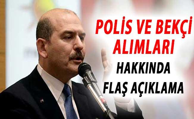 İçişleri Bakanı Süleyman Soylu'dan Polis ve Bekçi Alımları Hakkında Son Dakika Açıklaması