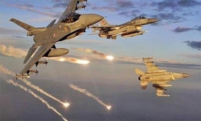 Irak kuzeyi Metina bölgesinde terör örgütüne ait silah mevzi ve mühimmat depoları imha edildi
