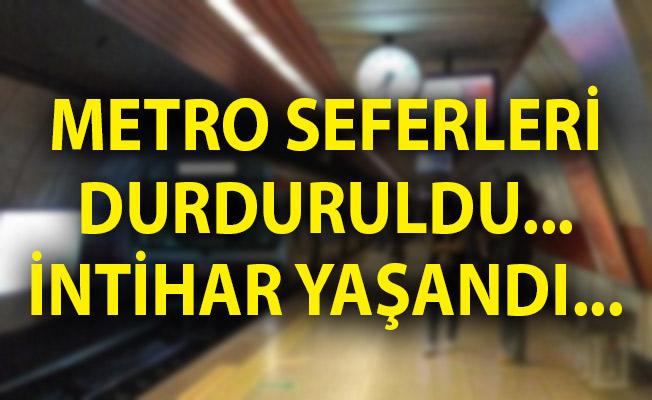 İstanbul'da Metro Seferleri Durduruldu! İstanbul'da Metro İntiharı