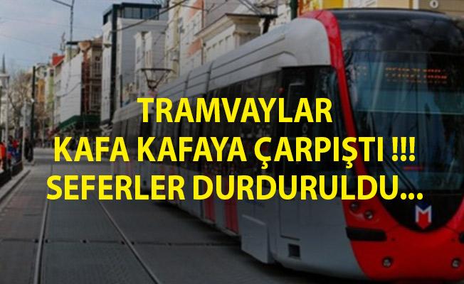 İstanbul'da Tramvay Kazası! Bağcılar-Kabataş Seferini Yapan Tramvay Cevizlibağ'da Raydan Çıktı!