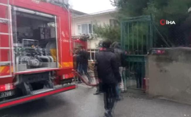 İstanbul Kartal'da Fabrika yangını