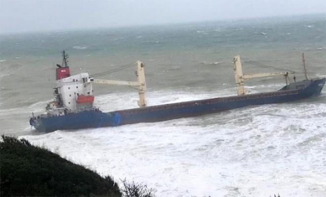 İstanbul Sahilköy açıklarında kargo gemisi karaya oturdu