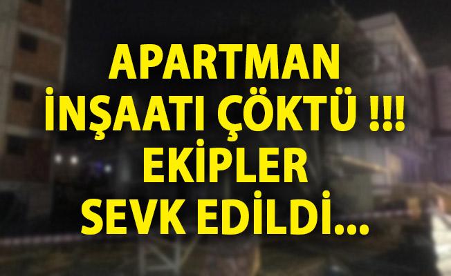 İstanbul Sultanbeyli'de Apartman İnşaatında Çökme! İstanbul Son Dakika Haberi