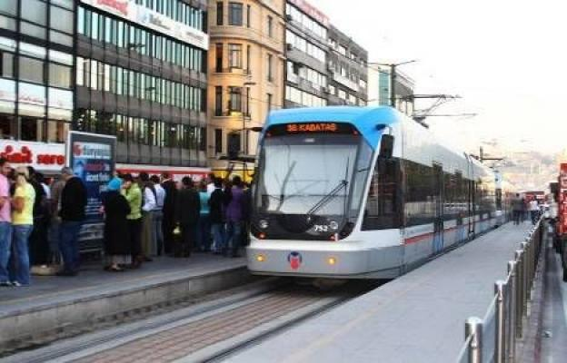 İstanbul Tramvay arızası- Kabataş Bağcılar Beyazıt  İstasyonları arasında seferler yapılamıyor