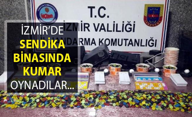 İzmir Bornova'da Sendika Binasında Kumar Oynarken Yakalandılar! Gözaltına Alınanlar Var