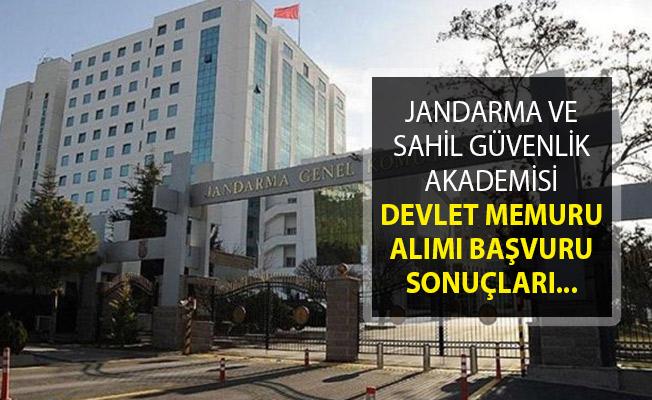 Jandarma ve Sahil Güvenlik Akademisi Devlet Memuru Alımı Başvuru Sonuçları Açıklandı!
