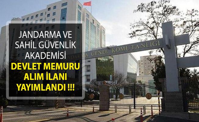 Jandarma ve Sahil Güvenlik Akademisi Devlet Memuru Alımı İçin İlan Yayımladı!