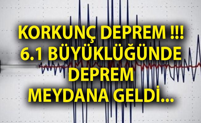 Kamçatka Yarımadası'nda 6.1 Büyüklüğünde Deprem!