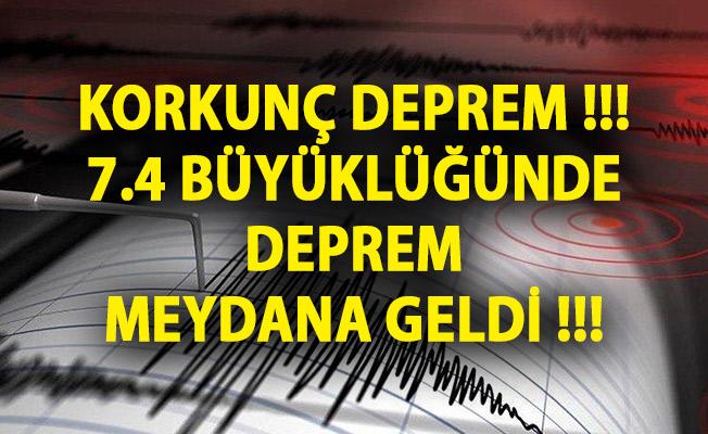 Kamçatka Yarımadası'nda 7.4 Büyüklüğünde Deprem!