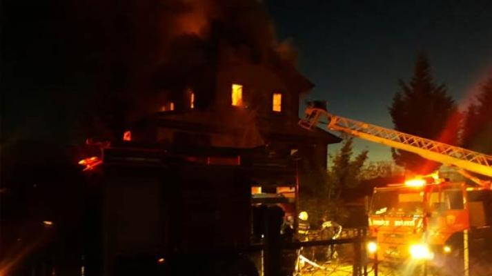 Karabük Safranbolu'da yangın alarmı