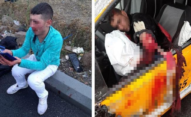 Kayseri'de taksi kaçıran askerler polisten kaçarken feci kaza yaptı