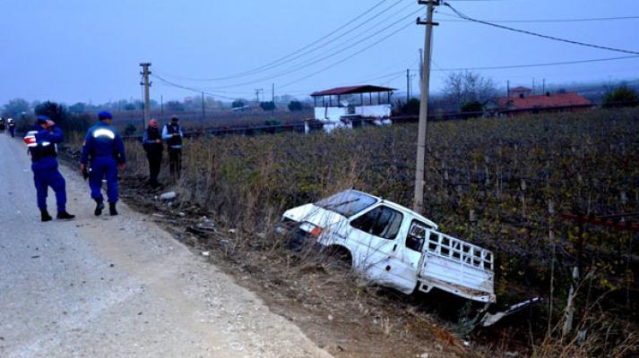 Manisa Alaşehir'de Banka Aracının yaptığı kazada 1 kişi öldü