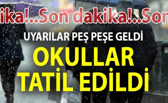 Mersin'de Okullar Tatil Edildi! - Yarın hangi okullar tatil edildi, 6 aralık okul tatili