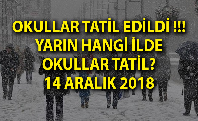 Okullar Tatil Edildi! - Yarın Hangi Okullar Tatil Edildi, 14 Aralık Okul Tatili