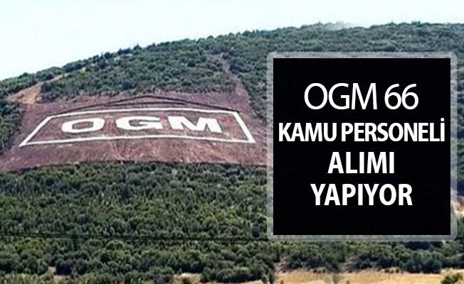 Orman Genel Müdürlüğü (OGM) 66 Kamu Personeli Alımı Yapıyor !