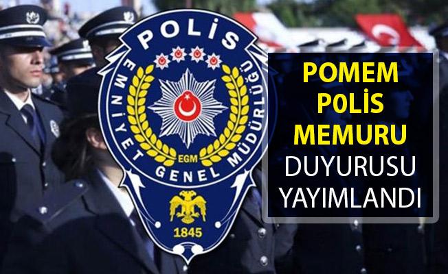 Polis Akademisinden POMEM Polis Memuru Duyurusu Yayımlandı! POMEM