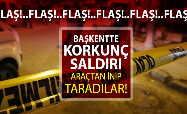 Son dakika Ankara Çankaya'da silahlı saldırı! Araçtan inip silahla yayaları taradılar! yaralılar var...