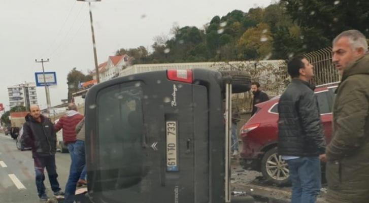 Trabzon Ortahisar'da meydana gelen trafik kazasında 1 kişi öldü 3 kişi yaralandı