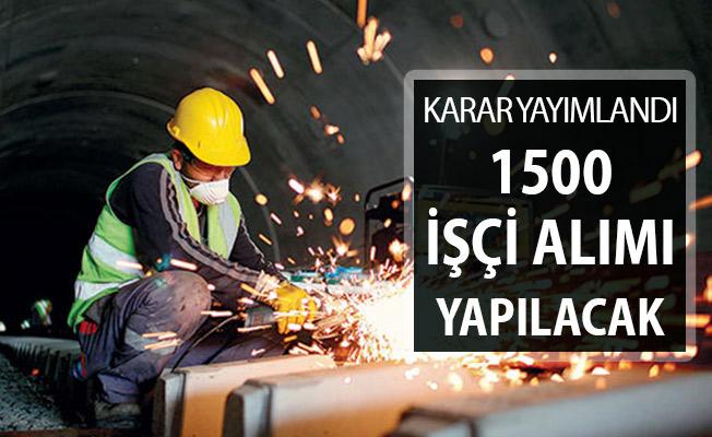 TTK 1500 İşçi Alımı Hakkında Karar Resmi Gazete'de Yayımlandı