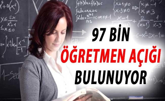 Türkiye'de 97 Bin Öğretmen Açığı Bulunuyor !