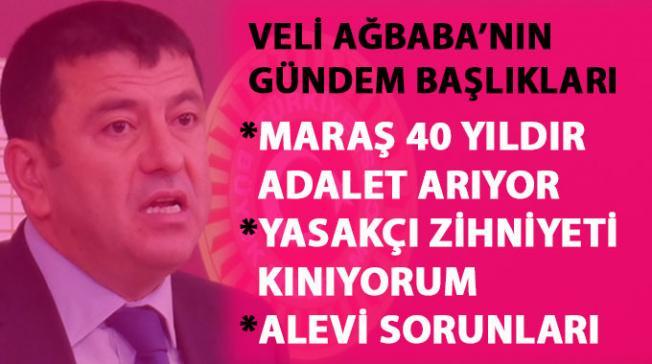 Veli Ağbaba: Maraş katliamı ve Alevi sorunları hakkında açıklamalarda bulundu