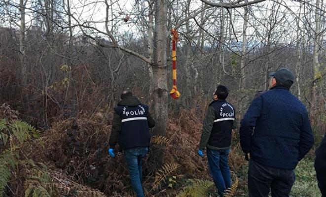 Zonguldak Ereğli'de ormanlık alanda kendini astı