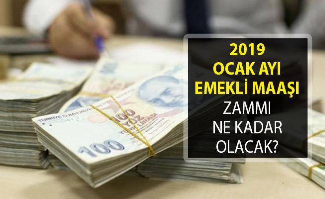 2019 Ocak Ayı Emekli Maaşı Zammı Ne Kadar? SGK ve Bağkur Emekli Maaşı