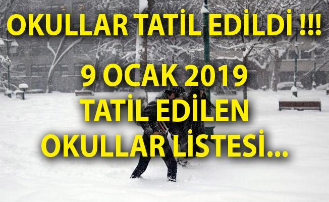 9 Ocak 2019 Kar Tatili Olan İl Ve İlçeler Listesi! Hangi Okullar Tatil?