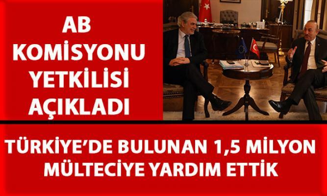AB Komisyonu yetkilisi, AB'nin Türkiye'de bulunan mültecilere yaptığı yardımı açıkladı