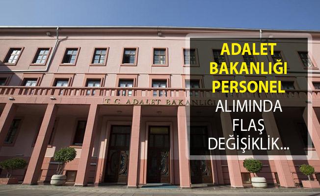 Adalet Bakanlığı Kamu Personeli Alımı Şartlarında Değişiklik Yapıldı!