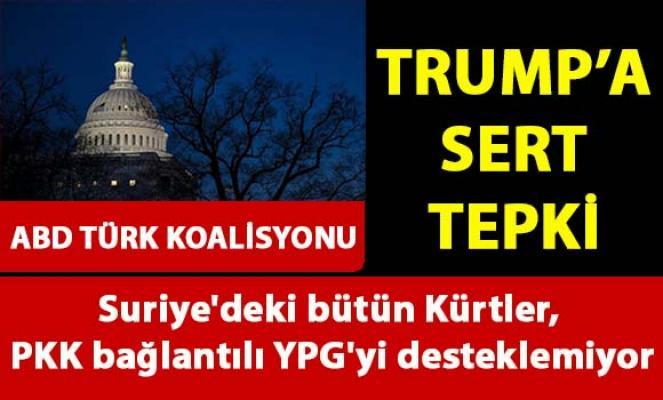 Amerika Türk Koalisyonu, Suriye'deki kürtlerin PKK/PYD terör örgütünü desteklemediğini söyledi