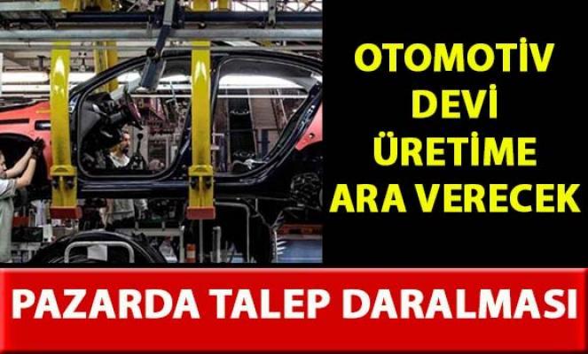 Anadolu Isuzu üretime ara verecek