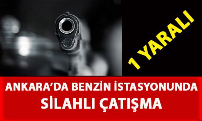 Ankara Altındağ'da bulunan bir benzin istasyonunda silahlı çatışma yaşandı