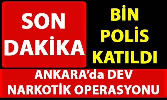 Ankara Altındağ ilçesinde bin polisin katılımıyla narkotik uygulaması yapıldı