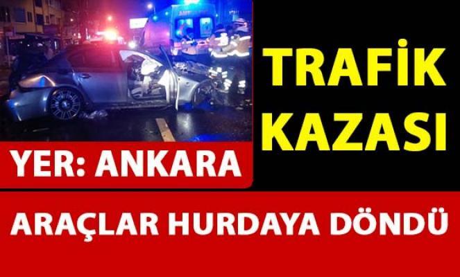 Ankara Çankaya'da trafik kazası meydana geldi
