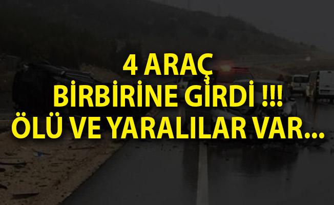 Antalya'da Son Dakika! 4 Araç Birbirine Girdi Ölü ve Yaralılar Var