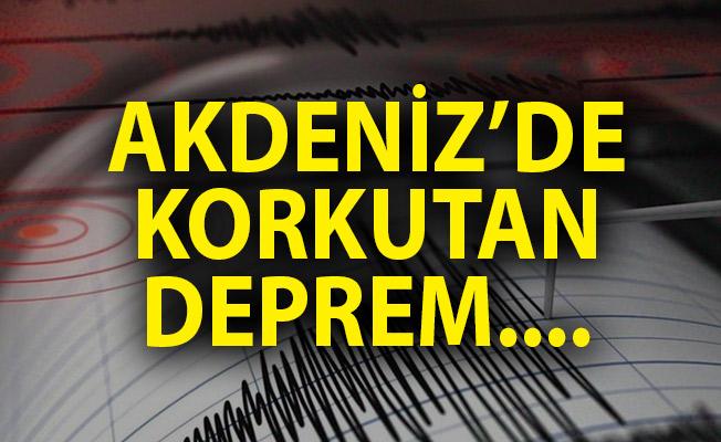 Antalya Dalaman'da Deprem! Son Depremler Listesi! Son Dakika Deprem!