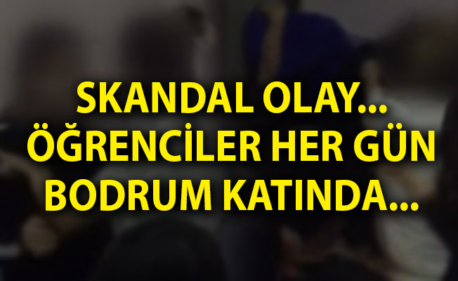 Avcılar'da Bir Ortaokulun Bodrum Katında Skandal Olay!