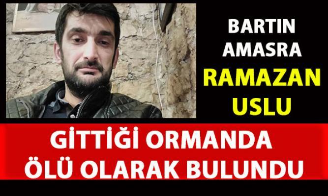 Bartın'ın Amasra ilçesinde odun toplamaya giden Ramazan Uzunay ölü olarak bulundu
