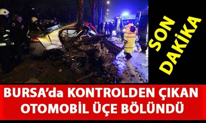 Bursa Mudanya yolu caddesinde feci kaza meydana geldi