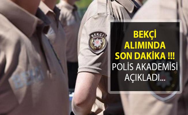 Çarşı ve Mahalle Bekçisi Alımında Yeni Gelişme! Polis Akademisi Başkanlığından Duyuru Yayımlandı!