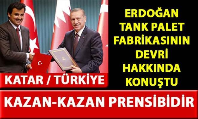 Cumhurbaşkanı Erdoğan, Tank Palet Fabrikası'nın devri hakkında açıklama yaptı