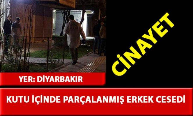 Diyarbakır'da, kutu içerisinde parçalanmış erkek cesedi bulundu
