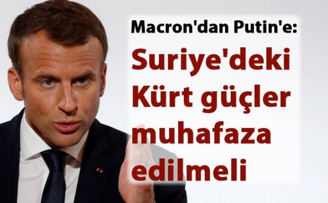 Fransa Cumhurbaşkanı'ndan, Suriye'deki Kürtler hakkında flaş açıklama